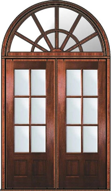 Prehung French Transom Double Door 96 Mahogany 3 4 Lite 6 96 Inch Exterior Doors