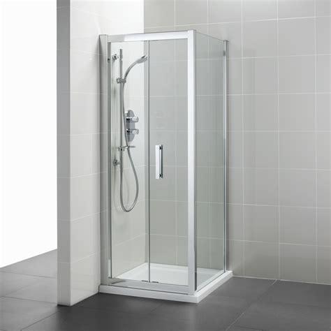 In Fold Shower Door Synergy Infold Corner Doors Corner Shower Enclosures Bluebook