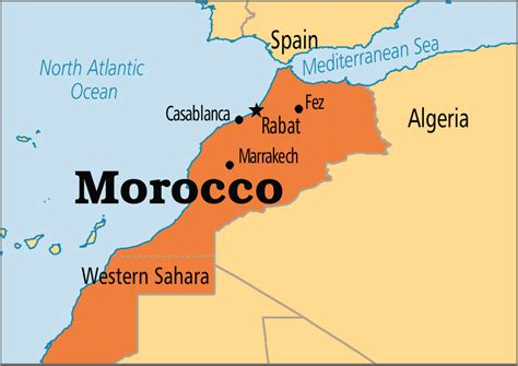 Morocco World Map by Morocco Operation World