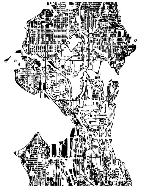 seattle map outline i quot repurposed quot a map and made this cool outline of
