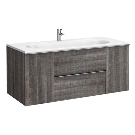 1200mm Wall Hung Vanity Unit by Galloway Wall Hung Vanity Unit Driftwood 1200mm Wide