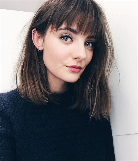 Lob Blunt Bangs | blunt lob with bangs bangs pinterest lob bangs and