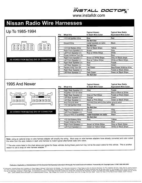 1995 nissan maxima stereo wiring diagram 40 wiring