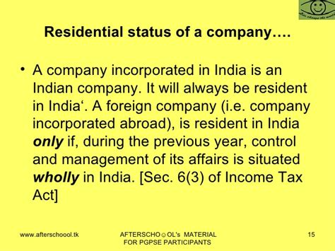 section 6 of income tax act in come tax law of india