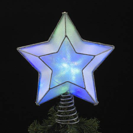 led christmas tree multi color changing topper 11 quot multi colored led lighted shimmering tree topper white wire walmart