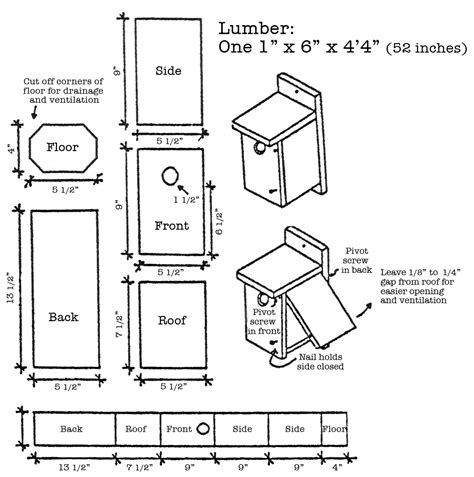 Plans For Bird Boxes Bird Boxes Pinterest Bluebird Bluebird House Plans Pdf