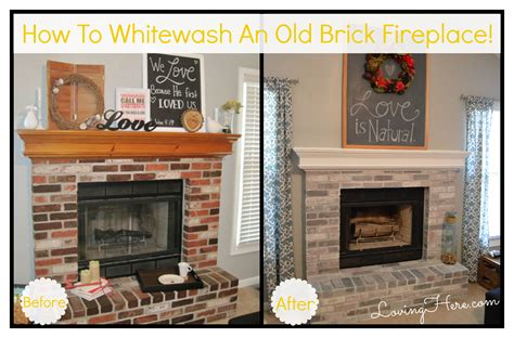 House Paint Color Ideas by How To Whitewash Brick Our Fireplace Makeover Loving Here