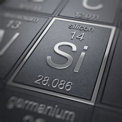Silicone Silikon silicon facts periodic table of the elements