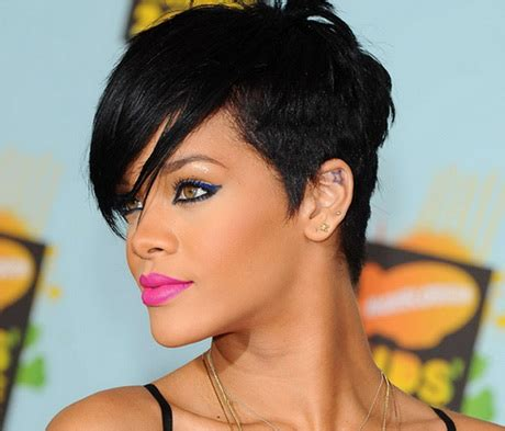 rihanna short hairstyles front and back rihanna short hair styles 2014