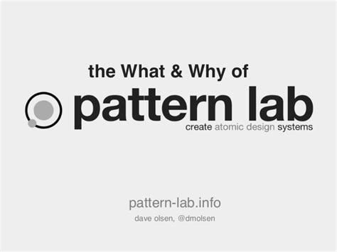 frost pattern lab the what why of pattern lab