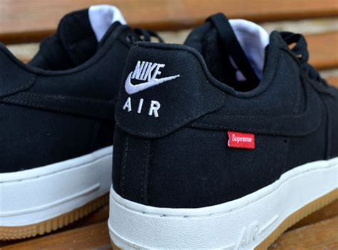 nike air 1 low supreme supreme x nike air 1 low black sneakernews