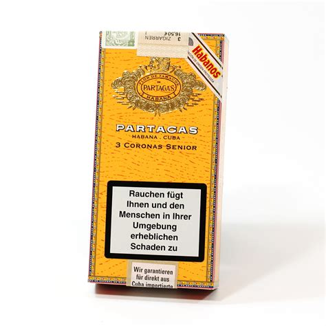 Partagas Coronas Senior Tubos Box Of 25 Cigar Cerutu partagas coronas senior at hacico hamburger cigarren