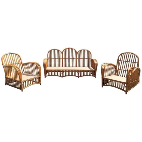 antique heywood wakefield stick wicker set for sale at 1stdibs