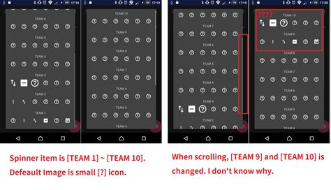 layoutinflater spinner android spinner value is changed when scrolling spinner