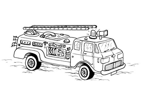 fire truck with ladder coloring page free printable fire truck coloring pages 6