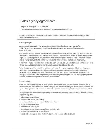 sle business sales agreement 9 exles in word pdf