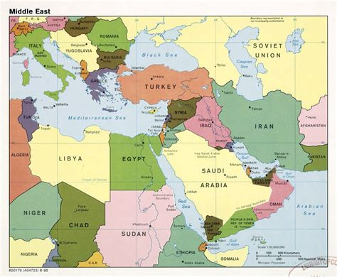 middle east map major cities large detailed political map of the middle east with major