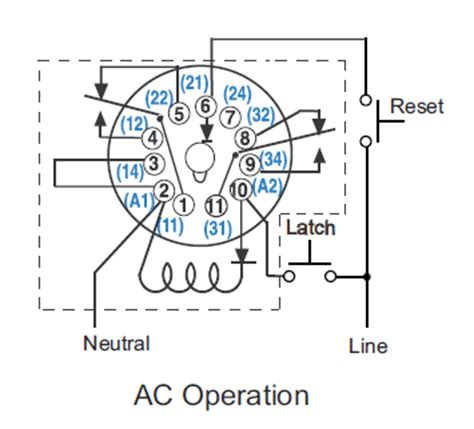 cr4 thread wiring octal 11 pin latching relay