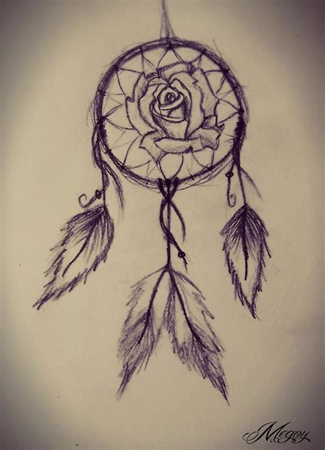 drawn dreamcatcher hipster pencil and in color drawn