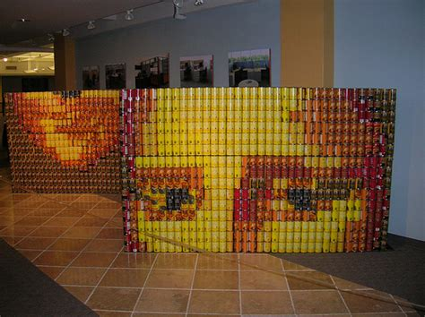 simple canstruction ideas canstruction mona flickr photo