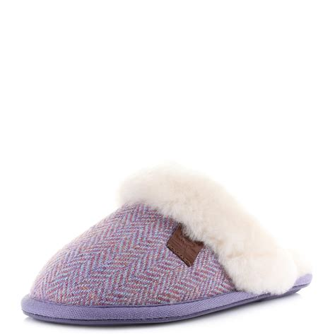 bedroom athletics slippers womens bedroom athletics kate pink harris tweed sheepskin