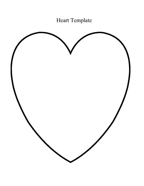heart shaped template free clipart best