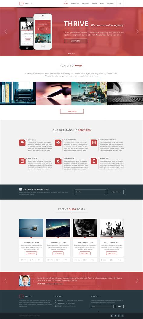 Thrive Multipurpose Creative Psd Template By Rypecreative Themeforest Thrive Themes Templates