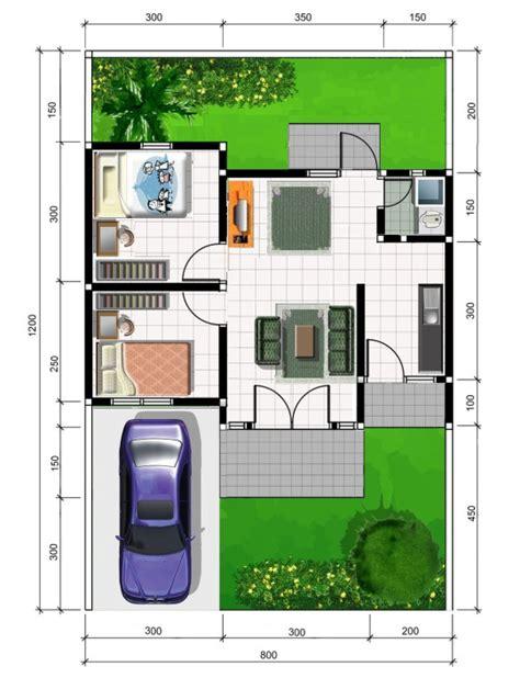gambar dan denah rumah minimalis type 45
