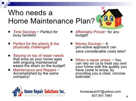 home maintenance plans home maintenance plan