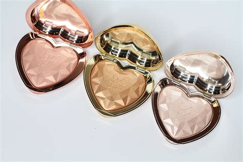 too faced love light highlighter swatches too faced love light prismatic highlighter review
