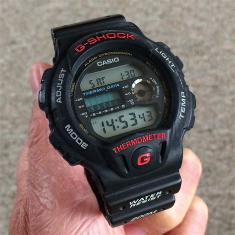 Casio Termometer fs casio g shock dw6100 thermometer vintage sunset temp history chart