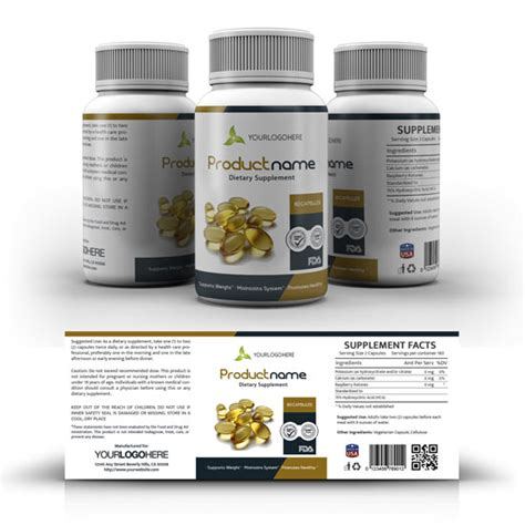 Supplement Label Template Yupidesigns Com Vitamin Label Template