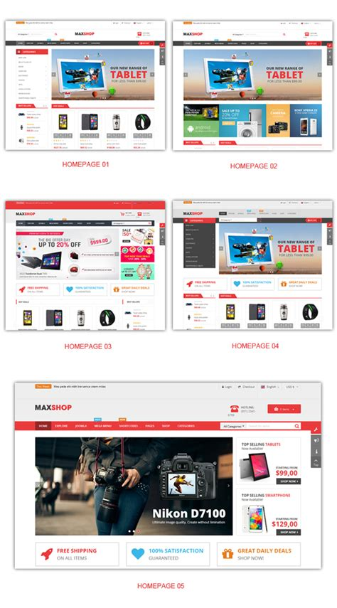 homepage layout manager virtue sj maxshop a modern design for any online stores