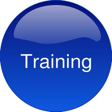 Training Cliparts | blue button training clip art at clker com vector clip