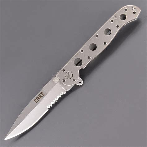 m16 13t 楽天市場 crkt 折りたたみナイフ m16 13t スピアーポイント チタン 半波刃 コロンビアリバー