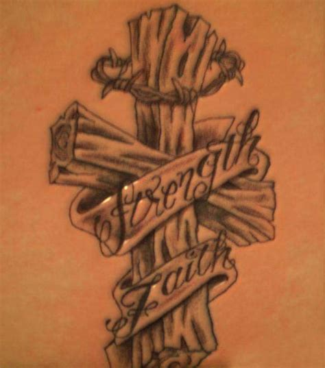 cross 3d tattoo asian tatto style 3d cross