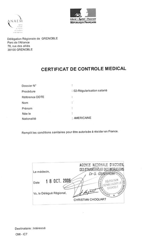 Attestation Letter From Doctor Tapif Documents And Links Tapif Guide