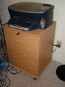 ikea wooden printer stand and file cabinet flickr