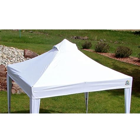 Undercover Canopy Undercover 300 Denier White Polyester Canopy Top For 10