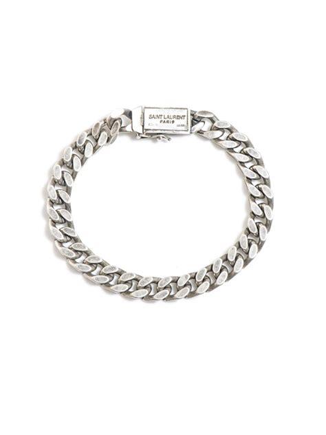 laurent flat chain bracelet in metallic lyst