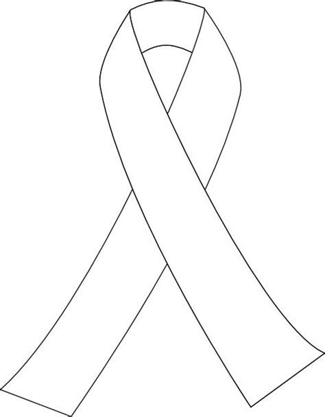 coloring page cancer ribbon printable breast cancer ribbon coloring pages relay 4