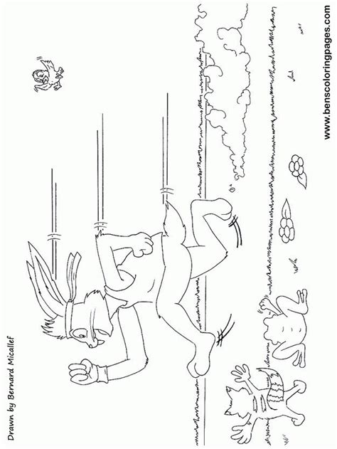 hare and the tortoise colouring pages tortoise and the hare coloring pages coloring home