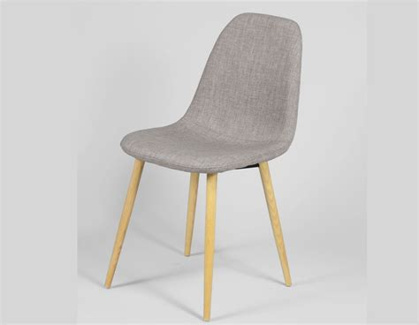 chaise grise salle a manger chaise scandinave grise