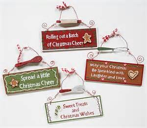 christmas holiday wood saying sign set of 4 signs amp ornaments home decor