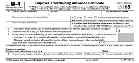 How to Fill Out Your W4 the Right Way -- The Motley Fool W 4 Form 2015 Printable Spanish Irs
