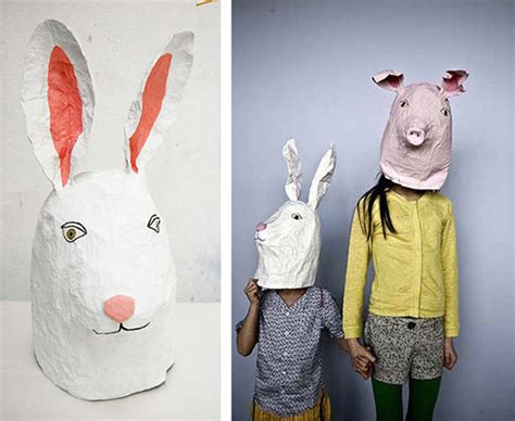 How To Make Scary Masks Out Of Paper - 10 diy cardboard paper masks for handmade
