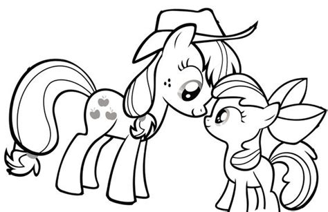 my little pony coloring pages applejack baby my little pony princess applejack and baby coloring page