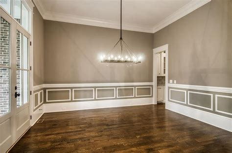 dining room with wainscoting gray dining room with white wainscoting transitional