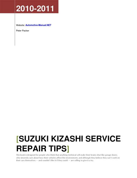 suzuki kizashi 2010 2011 service repair manual download download suzuki kizashi 2010 2011 service repair tips by armando oliver issuu