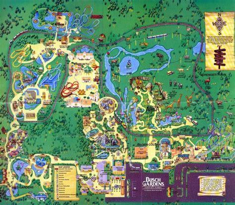 busch gardens map theme park brochures busch gardens ta theme park brochures